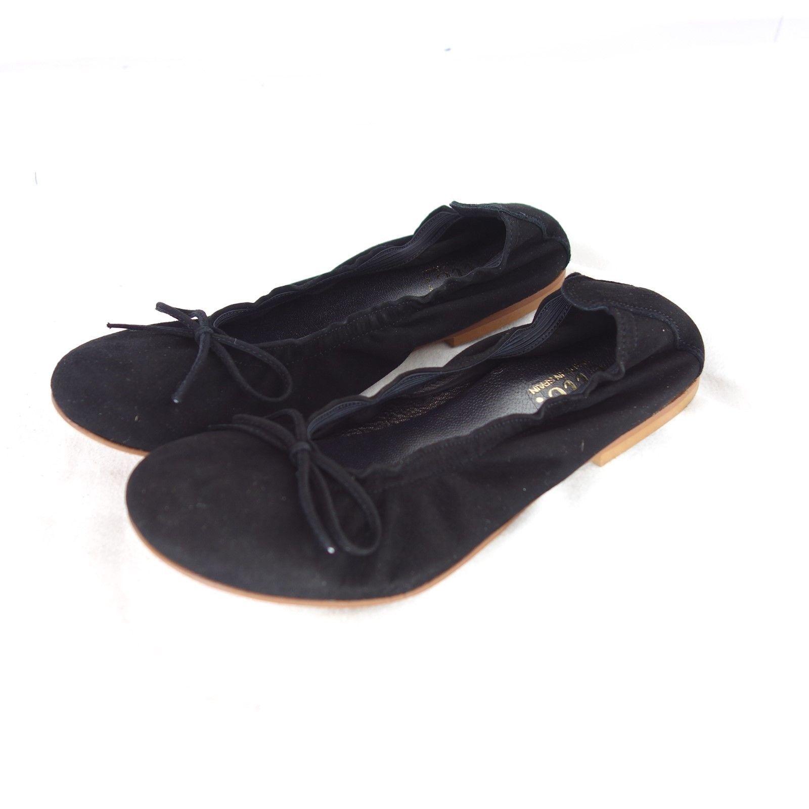 Clic  Damen Schuhe Ballerinas Gr 35 Sandalen Leder Wildleder Schwarz NP 79 NEU
