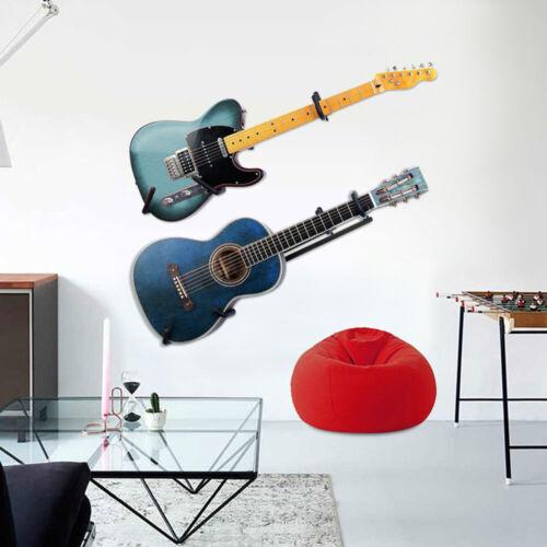 Black Horizontal Guitar Wall Hanger Bracket Electric Acoustic Bass Ukulele