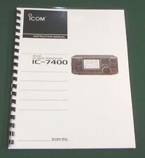 Icom IC-7400 Instruction Manual - Premium Card Stock Covers & 28 LB Paper!