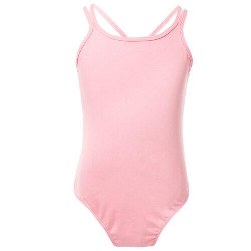 Kids Girls Ballet Gymnastics Dance Leotard Sleeveless Bodysuit Dancewear Costume