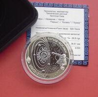 Kazakhstan 2006 Space series-Cosmonaut 500 Tenge Bimetallic Ag+Ta PP Coin