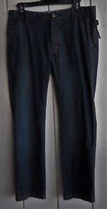 Mens-32-JACHS-Mid-Rise-Button-Fly-Straight-Leg-Dark-Blue-Denim-Jeans-33-x-31-034