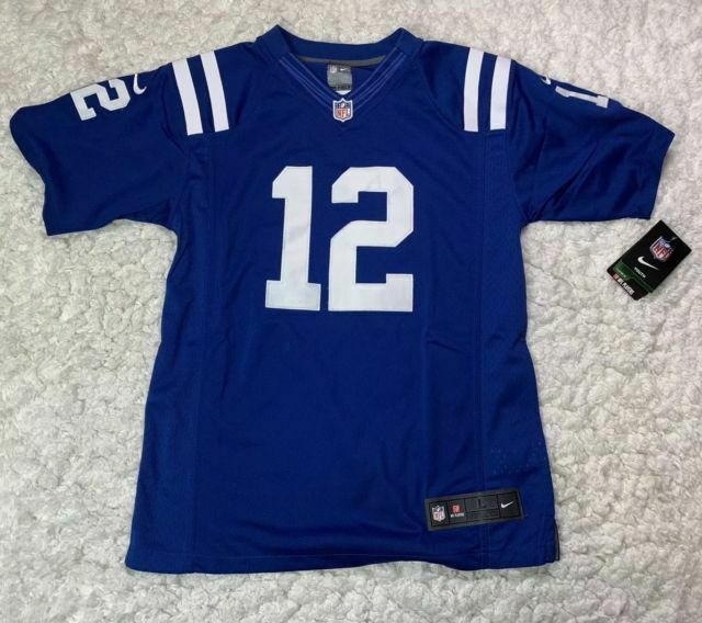 NFL Indianapolis Colts Nike Football Jersey #12 Luck Youth Boys Large L 12 14