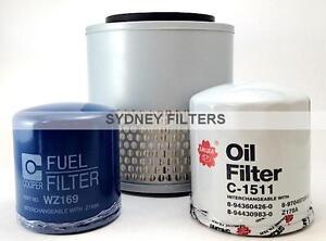 HOLDEN RODEO 2.5L & 2.8L AIR OIL FUEL FILTER KIT 1988-03 TURBO DIESEL / DIESEL