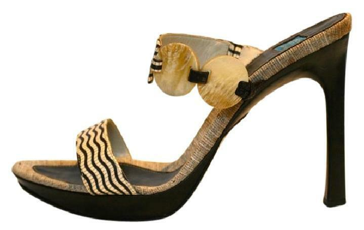 GOFFrossoO FANTINI STRAPPY SANDALS scarpe, CARVED MOTHER OF OF OF PEARL DETAIL, Dimensione 38.5 9cc36d