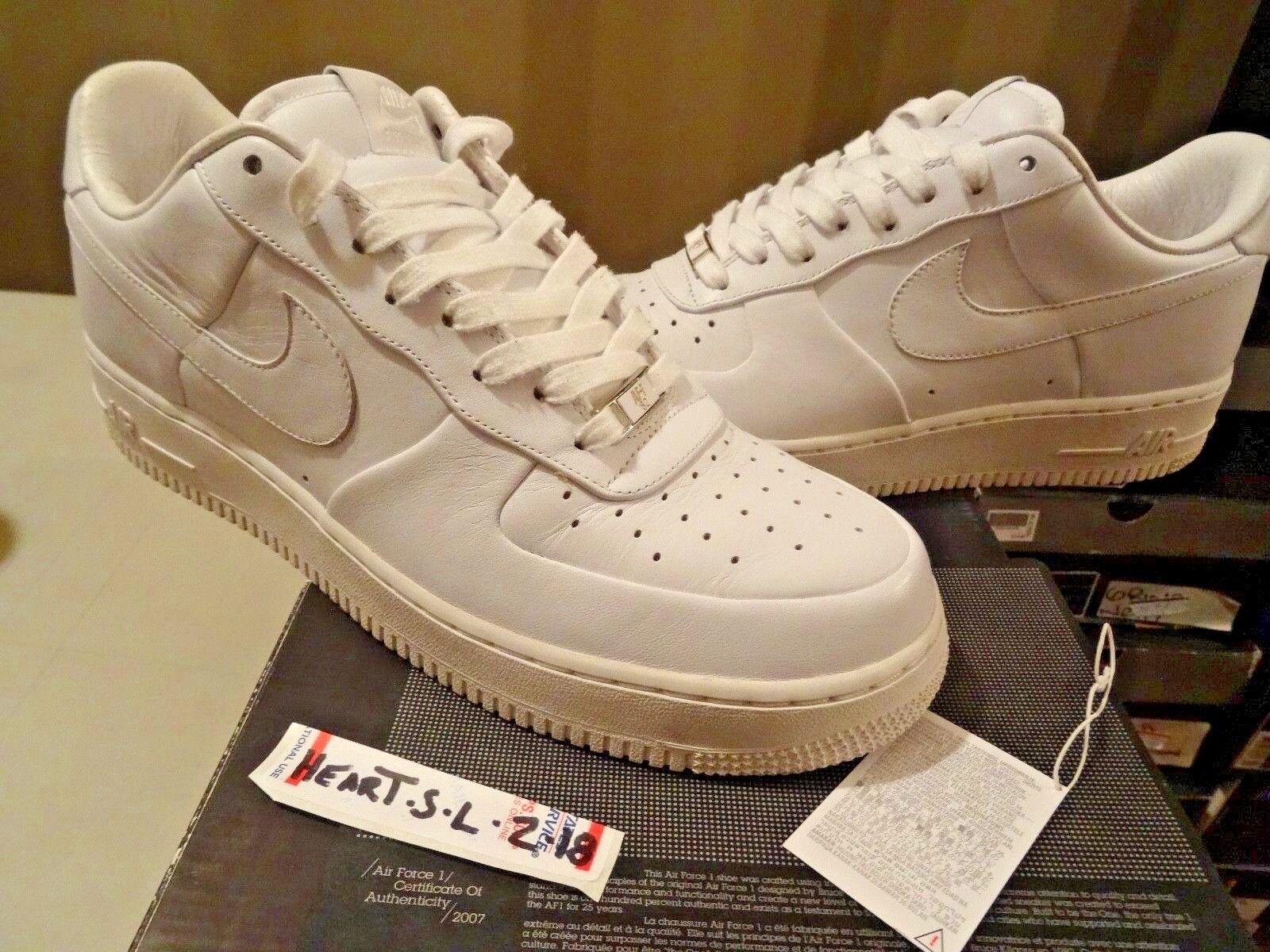 2006 RARE RARE RARE Nike Air Force 1 Supreme '07 bianca 315100 111    bianca, bianca SZ 11 e6b03a