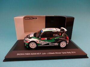 SKODA-FABIA-S2000-3-F-LOIX-1st-RALLY-YPRES-2014-1-43-NEW-IXO-WHITEBOX-WBR021