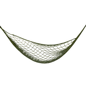 Portable Nylon Green Hammock in Carrying Bag