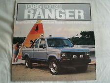 Ford USA Ranger brochure 1986 Canadian market