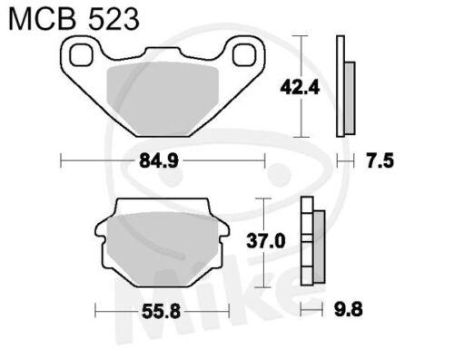 TRW Lucas balatas mcb523 atrás Kawasaki KLR 650 a