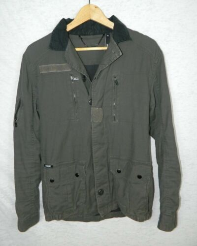 Commune Jacket Green Gray Military Style Coat Size