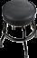 fender guitars blackout 24 inch barstool w/padded seat 9100323506 - new
