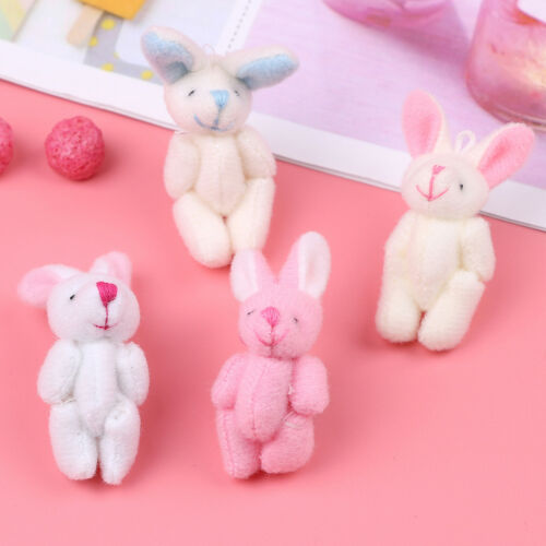 Mini 4cm rabbits plush stuffed baby toy dolls for kids candy box gift toy lovely