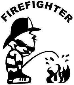 Firefighter-Feuerwehr-Aufkleber-Sticker-Kult-Fun-Oldschool-11X10cm