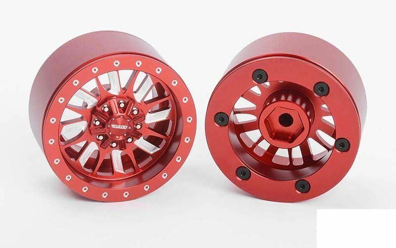 RC4WD Enforcer 1.9  mm ruedas de bloqueo de grano rojo Z-W0323 RC4WD rueda rc