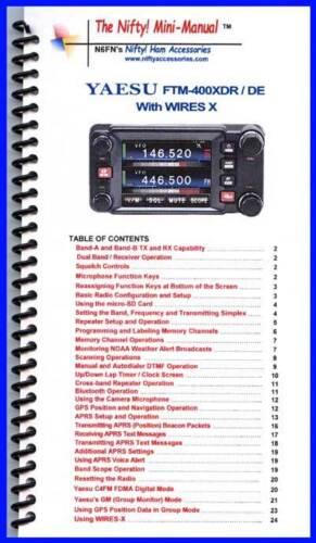 Yaesu FTM-400XDR DE Mini-Manual by Nifty Accessories