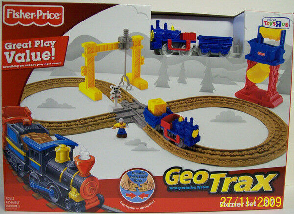 Fisher Price Geotrax Railroad Starter Set Toysrus Exclusive 2009 NEW