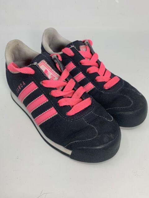 Girls Adidas Samoa Ortholite Pink/Black Size 11K | eBay