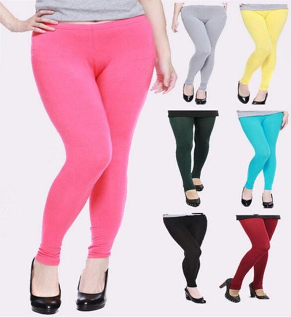 Women Plus Size 3X 4X 5X 6X Modal Multicolor Soft Comfort Skinny Leggings Pants