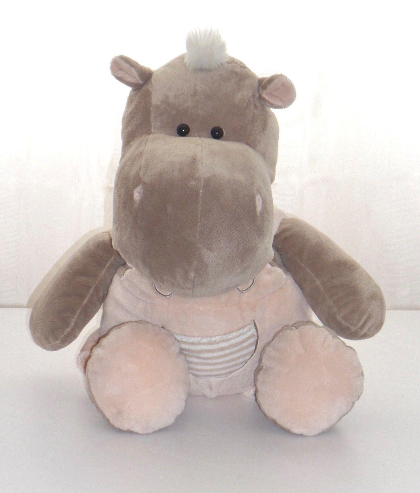 Morgenroth Stofftier Kuscheltier Plüschtier Nilpferd Hippo 50 cm Plüsch wie neu