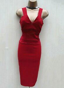 exquisite karen millen uk 12 red tuxedo corset cocktail