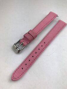 cdfa862cc New Authentic MICHELE Mini Deco Coquette Hot Pink Grosgrain WATCH ...