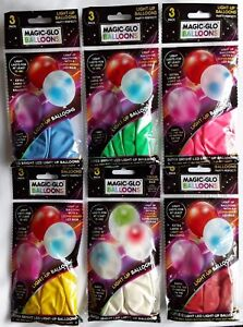 Quality-12-034-Magic-Glo-LED-Balloons-Light-Up-Party-Birthay-Wedding-Celebrations