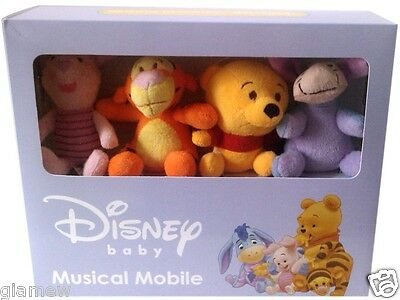 Brand New Winnie the Pooh Baby Crib Musical Mobile, Great Gift Free Shipping (G)