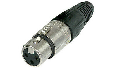 Neutrik NC3FX 3-pin Female XLR Cable Connector 50-Pack NEW