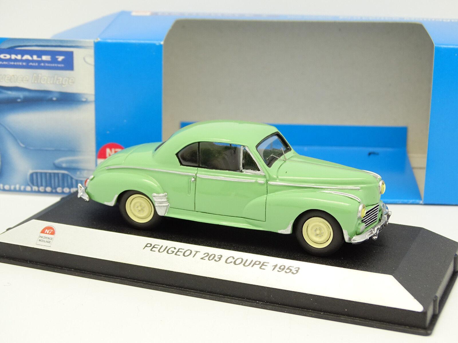 Starter N7 Provence Resina 1/43 - Peugeot 203 Tazza Verde 1953
