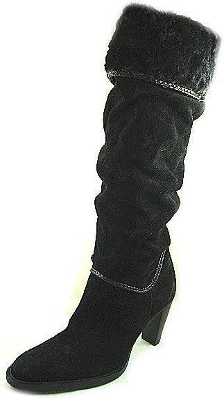 Vista previa del nuevo internacional internacional internacional de la Mujer Negro Ante Alto Tacón Alto Bota Zapato Talla 9 M de Brasil  barato y de alta calidad