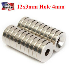 5Pcs N52 15x3mm Countersunk Ring Hole 4mm Round Neodymium Magnets Rare Earth