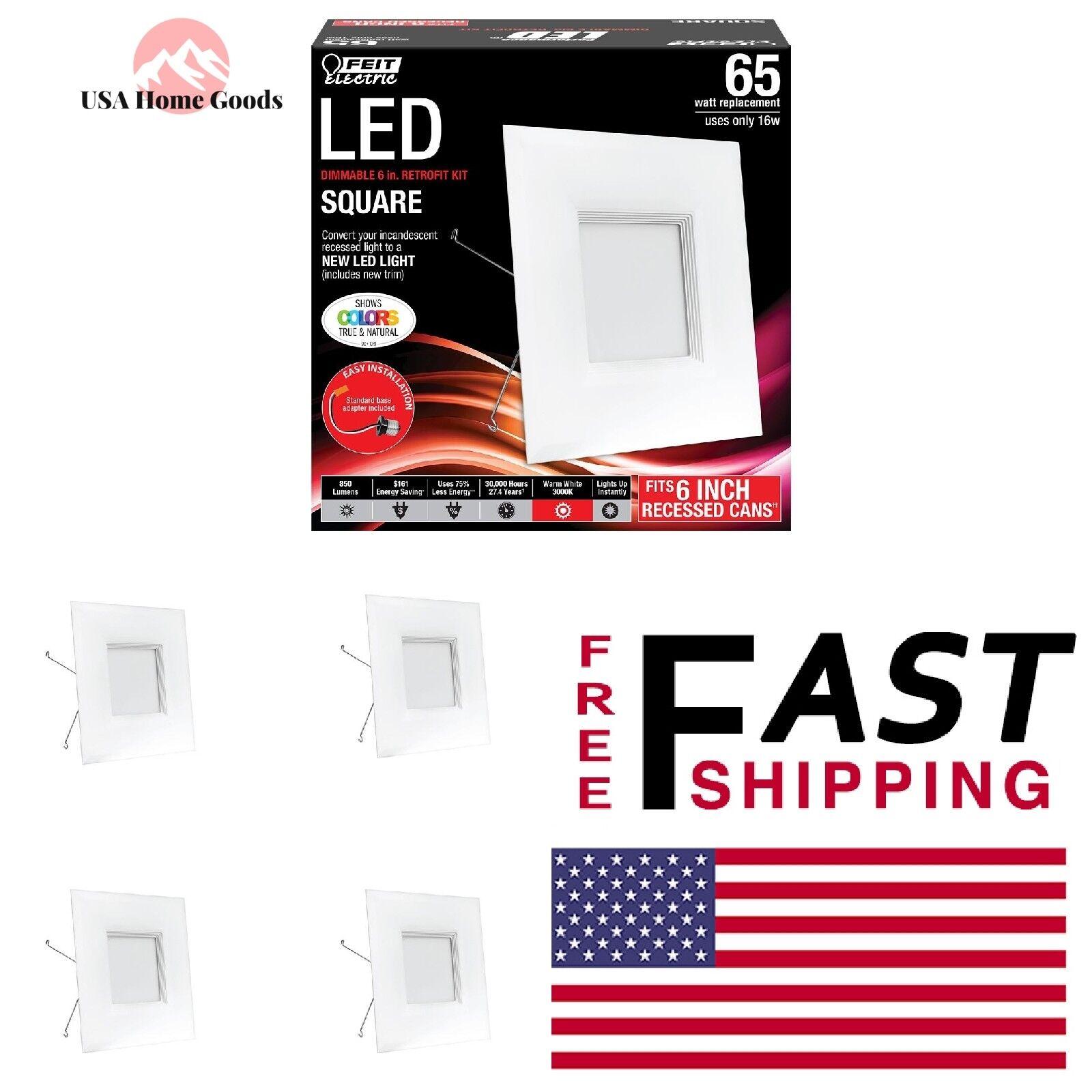 Cuadrado blancoo Cálido LED Luz Bombilla 65W (Caja de 4) Bafle Cocina Comedor Retrofit