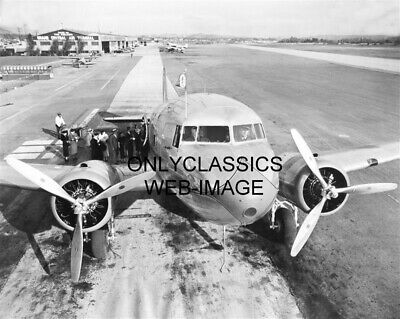 1937 AMERICAN AIRLINES DC-3 SKYSLEEPER FLAGSHIP CITY NEW YORK AIR PLANE PHOTO