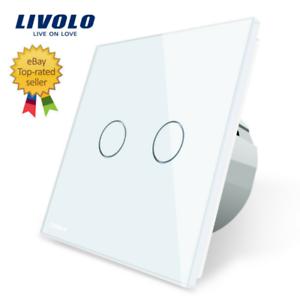 LIVOLO EU 1//2//3 Gang 1//2 Way White Wall Switch Power Socket Dimmer No Logo