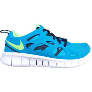 Details about Junior Nike Free Run 2.0 (GS) 443742 434 Blue White Athletic Shoes show original title
