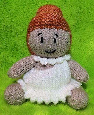 KNITTING PATTERN 15cms toy Alice in Wonderland inspired choc orange cover