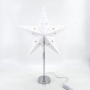 Weihnachtsstern-Dekostern-Fensterstern-Stern-weiss-Papierstern-stehend-E14-H-67cm