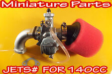PIT BIKE PERFORMANCE CARBURETTOR PITBIKE 140CC CARB KIT UP JETTED WPB LMX YX140