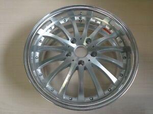 ASA ZR1 W26 Felge 8x18 5x120 Et40 Silber Front + Hornpoliert  R1552