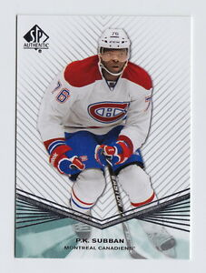 2011-12 SP Authentic Hockey Complete Set #1-100 - QTY AVAIL