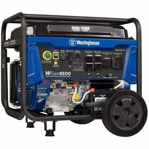 Westinghouse WGen9500 - 9500 Watt Electric Start Portable Generator w/ GFCI P...