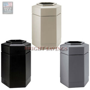 30 gallon commercial zone hex trash can indoor outdoor Large kitchen trash can with lid