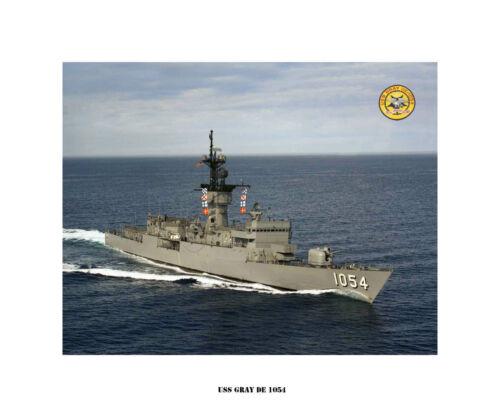 US Ship USS GRAY DE 1054  Destroyer Escort USN Navy Photo Print
