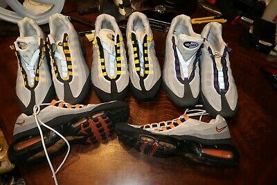 LOT OF 4 PAIR OF NIKE AIR MAX 95 MENS 12 609048 105 103 511306 051 071 2011 2012 | eBay