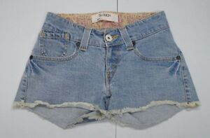 b9199c39 Levis Womens Juniors 1 Blue 504 Slouch Ramie Blend Jean Shorts | eBay