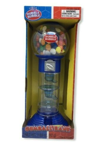 Rhode Island Novelty 10.5 Inch Spiral Gumball Machine Coin Bank Color Blue