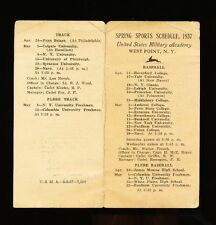 1937 United States Military Academy / Army Spring Sports Schedule - Baseball