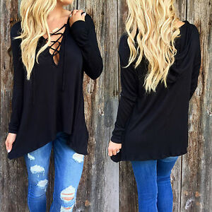 oversized damen hemd sweatshirt ausgeschnitten oberteile pullover pulli jumper ebay. Black Bedroom Furniture Sets. Home Design Ideas
