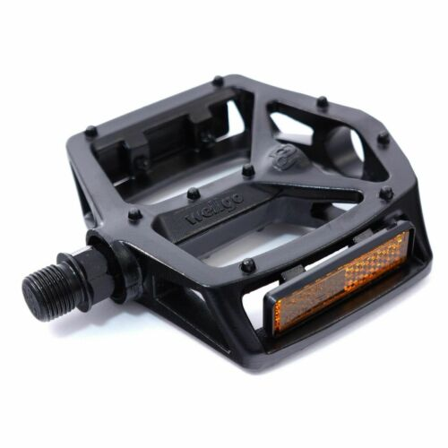 WELLGO MG-3 Fixed Pin Bike Pedals for MTB BMX DH Platform 9//16/'/' Black